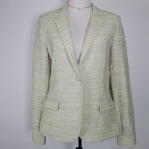 CAbi Space Dye One Button Blazer Jacket Size 8